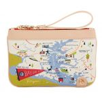 Greetings from Bay Dreams Zip Wristlet